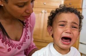 Mother Comforts Upset Child